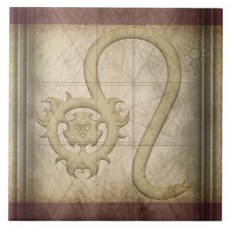 レオの(占星術の)十二宮図の印 タイル