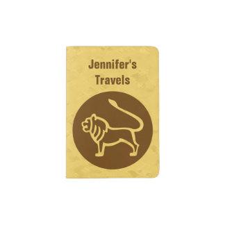 レオの(占星術の)十二宮図の印 パスポートカバー