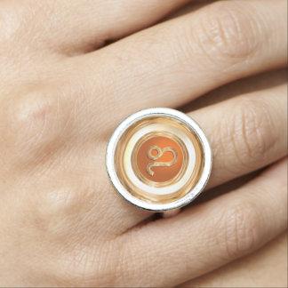 レオの(占星術の)十二宮図の印 指輪