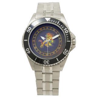 レオの(占星術の)十二宮図の腕時計 腕時計