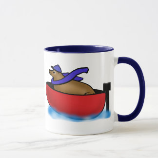 レオは船遊び行きます マグカップ
