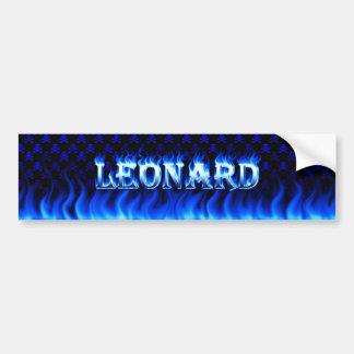 レオナルドの青い火および炎のバンパーステッカーは設計します バンパーステッカー