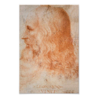 レオナルド・ダ・ヴィンチのポートレート ポスター
