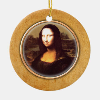 レオナルド・ダ・ヴィンチのモナ・リザの装飾 セラミックオーナメント