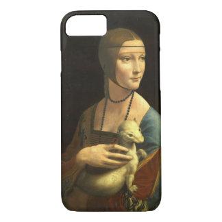レオナルド・ダ・ヴィンチの女性With Ermine Vintage iPhone 8/7ケース