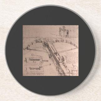 レオナルド・ダ・ヴィンチの巨大な石弓のためのデザイン コースター