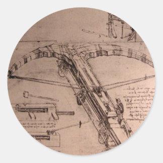 レオナルド・ダ・ヴィンチの巨大な石弓のためのデザイン ラウンドシール