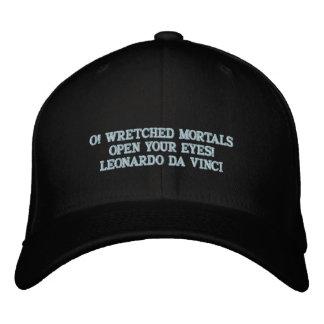 レオナルド・ダ・ヴィンチの引用文-野球帽 刺繍入りキャップ