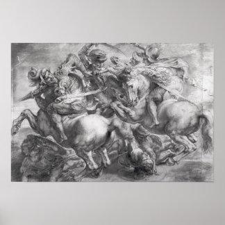 レオナルド・ダ・ヴィンチの後のAnghiariの戦い ポスター
