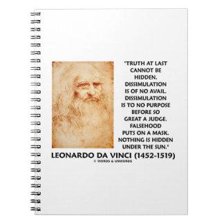 レオナルド・ダ・ヴィンチの真実は隠された引用文である場合もありません ノートブック