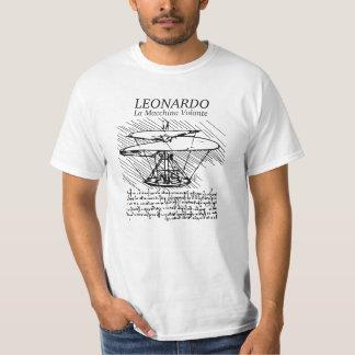 レオナルド・ダ・ヴィンチの航空機! GEの飛行 Tシャツ