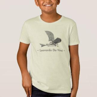 レオナルド・ダ・ヴィンチの航空機 Tシャツ