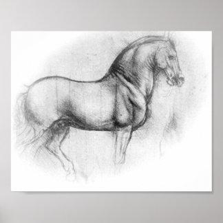 レオナルド・ダ・ヴィンチの馬ポスター ポスター