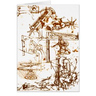 レオナルド・ダ・ヴィンチは挨拶状をスケッチしました カード