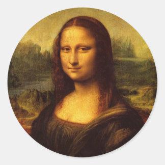 レオナルド・ダ・ヴィンチモナ・リザのファインアートの絵画 ラウンドシール