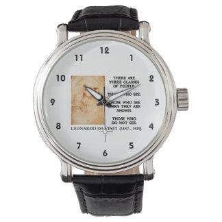 レオナルド・ダ・ヴィンチ人々の引用文の3つのクラス 腕時計