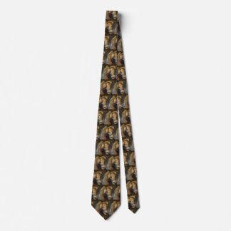 レオナルド・ダ・ヴィンチ著キリストの天使の洗礼 ネクタイ