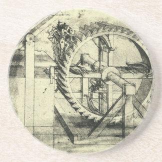 レオナルド・ダ・ヴィンチ著トレッドミルによって動力を与えられる石弓 コースター