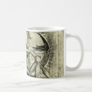 レオナルド・ダ・ヴィンチ著トレッドミルによって動力を与えられる石弓 コーヒーマグカップ