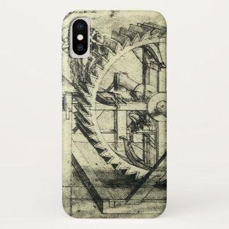 レオナルド・ダ・ヴィンチ著トレッドミルによって動力を与えられる石弓 iPhone X ケース