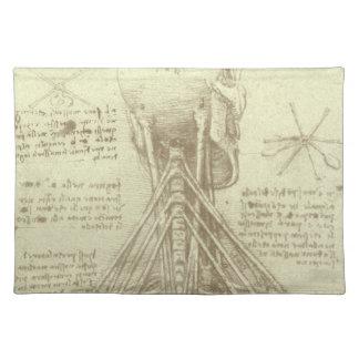 レオナルド・ダ・ヴィンチ著人間の解剖学の脊柱 ランチョンマット