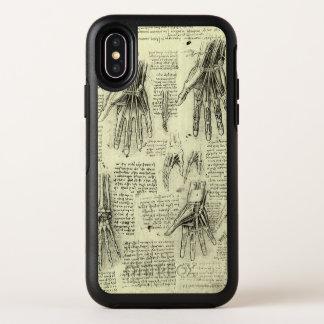 レオナルド・ダ・ヴィンチ著人間手の解剖学 オッターボックスシンメトリー iPhone X ケース