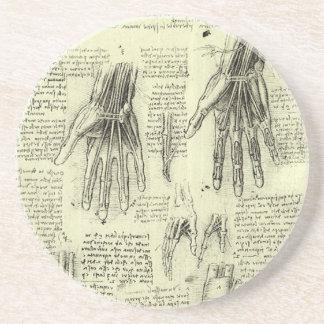 レオナルド・ダ・ヴィンチ著人間手の解剖学 コースター