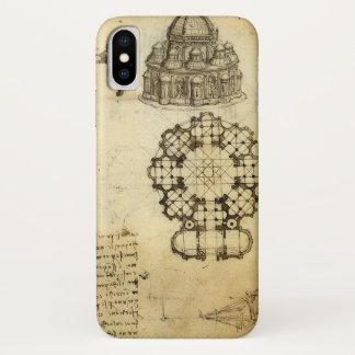 レオナルド・ダ・ヴィンチ著建築スケッチ iPhone X ケース