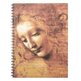 レオナルド・ダ・ヴィンチ著美しい女性 ノートブック