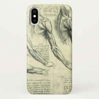 レオナルド・ダ・ヴィンチ著腕および肩の解剖学 iPhone X ケース