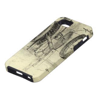 レオナルド・ダ・ヴィンチ著車輪のエンジニアリングのスケッチ iPhone SE/5/5s ケース