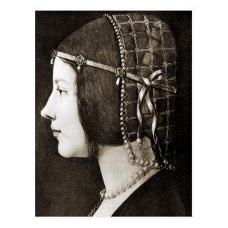 レオナルド・ダ・ヴィンチ著Bianca Sforza ポストカード
