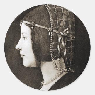 レオナルド・ダ・ヴィンチ著Bianca Sforza ラウンドシール