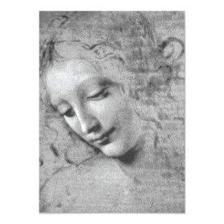 レオナルド・ダ・ヴィンチ著La Scapigliata カード