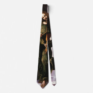 レオナルド・ダ・ヴィンチ著Vielleの緑の天使 ネクタイ