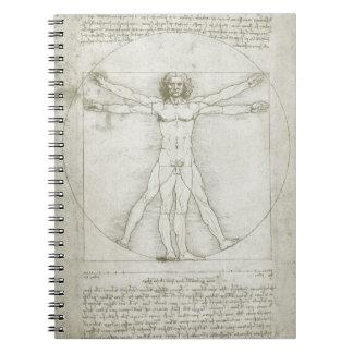 レオナルド・ダ・ヴィンチ著Vitruvianの人 ノートブック