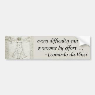 レオナルド・ダ・ヴィンチ著Vitruvianの人 バンパーステッカー