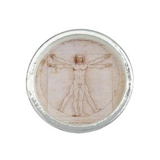レオナルド・ダ・ヴィンチ著Vitruvianの人 指輪