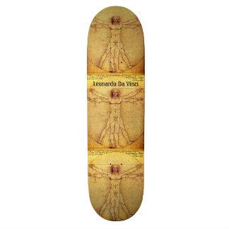 レオナルド・ダ・ヴィンチ著Vitruvianの人 20cm スケートボードデッキ