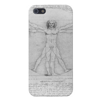 レオナルド・ダ・ヴィンチ著Vitruvianの人 iPhone 5 カバー