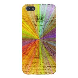 レオナルド・ダ・ヴィンチ著Vitruvianの人 iPhone 5 ケース