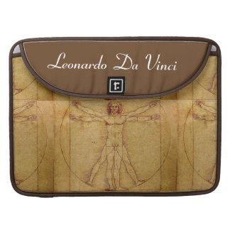レオナルド・ダ・ヴィンチ著Vitruvianの人 MacBook Proスリーブ