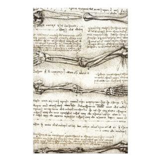 レオナルド・ダ・ヴィンチ-腕のアートワークの勉強 便箋