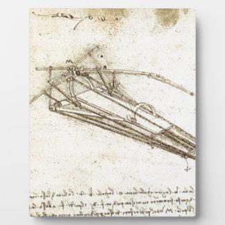 レオナルド・ダ・ヴィンチ-航空機のためのデザイン フォトプラーク