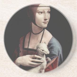 レオナルド・ダ・ヴィンチ- Ermineを持つ女性 コースター