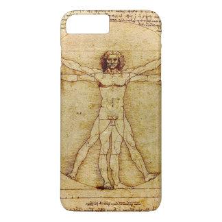 レオナルド・ダ・ヴィンチ- Vitruvianの人のスケッチ iPhone 8 Plus/7 Plusケース