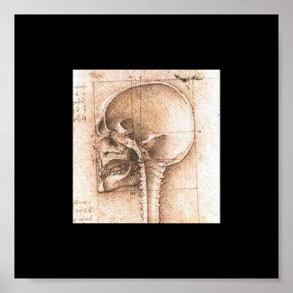 レオナルド・ダ・ヴィンチc. 1489年著スカルの眺め ポスター