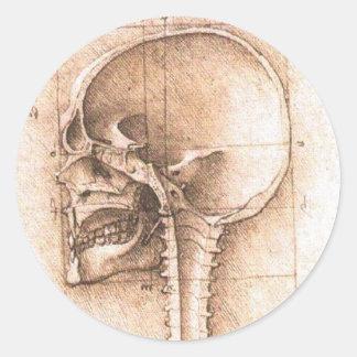 レオナルド・ダ・ヴィンチc. 1489年著スカルの眺め ラウンドシール