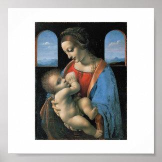 レオナルド・ダ・ヴィンチc. 1490-1491年著マドンナLitta ポスター