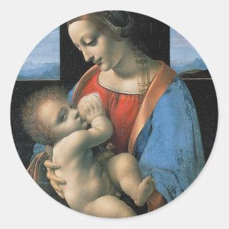 レオナルド・ダ・ヴィンチc. 1490-1491年著マドンナLitta ラウンドシール